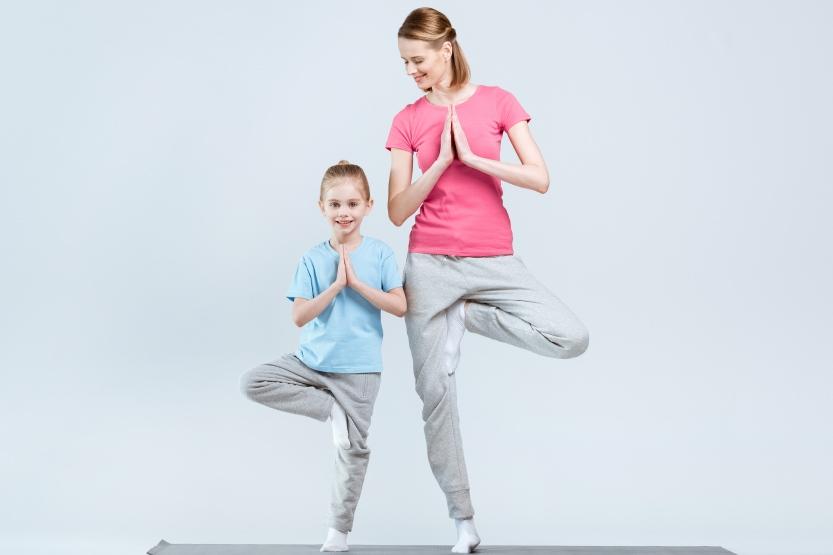 Posture de yoga pour enfants
